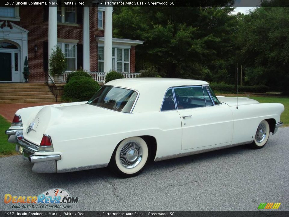 1957 Lincoln Continental Mark II White / Red Photo #10