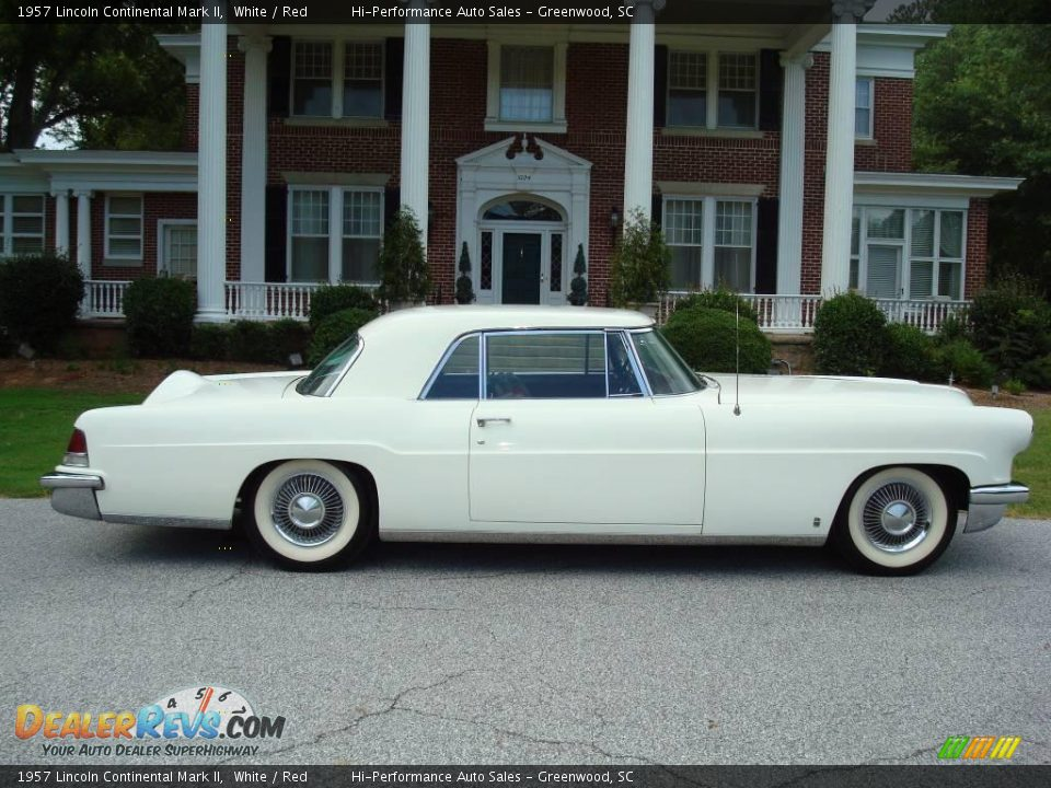 1957 Lincoln Continental Mark II White / Red Photo #11