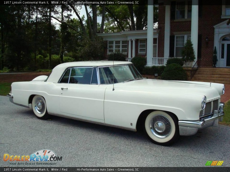 1957 Lincoln Continental Mark II White / Red Photo #12