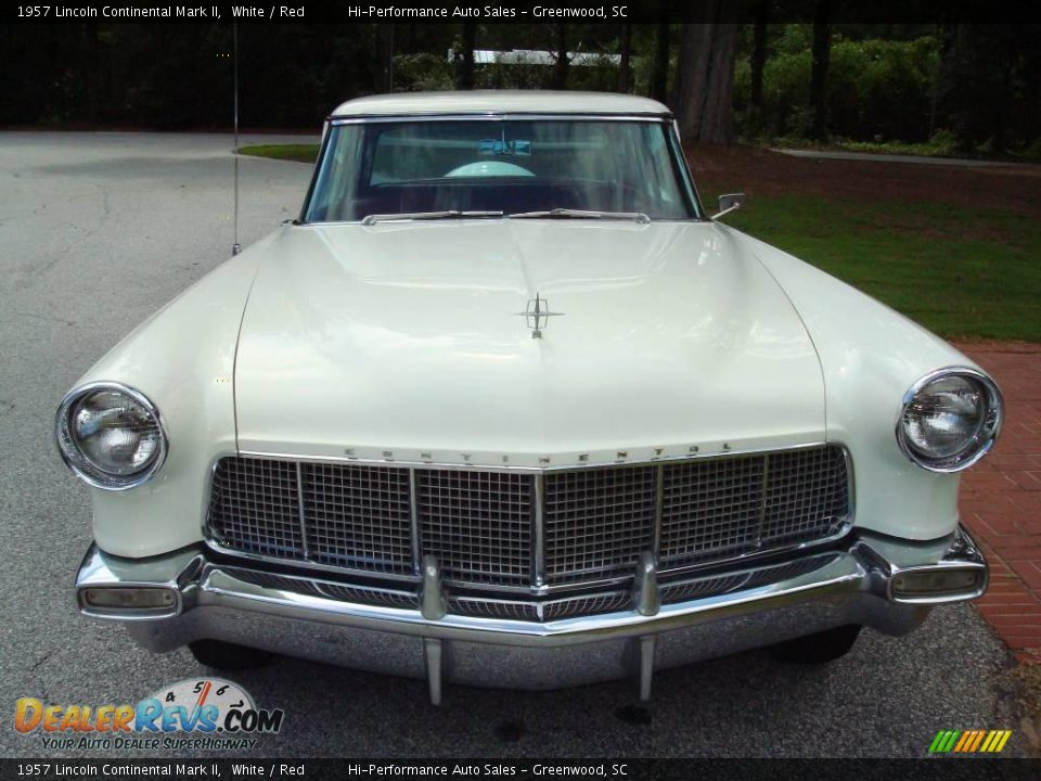1957 Lincoln Continental Mark II White / Red Photo #14