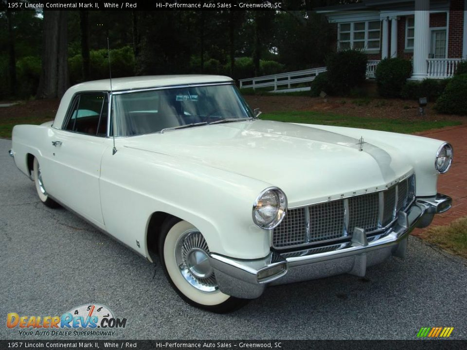 1957 Lincoln Continental Mark II White / Red Photo #34
