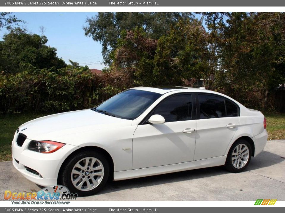 2006 Bmw 3 Series 325i Sedan Alpine White Beige Photo 3