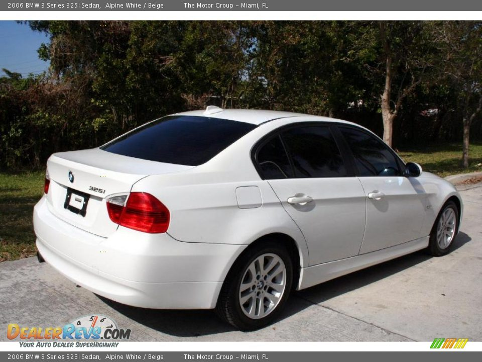 2006 Bmw 3 Series 325i Sedan Alpine White Beige Photo