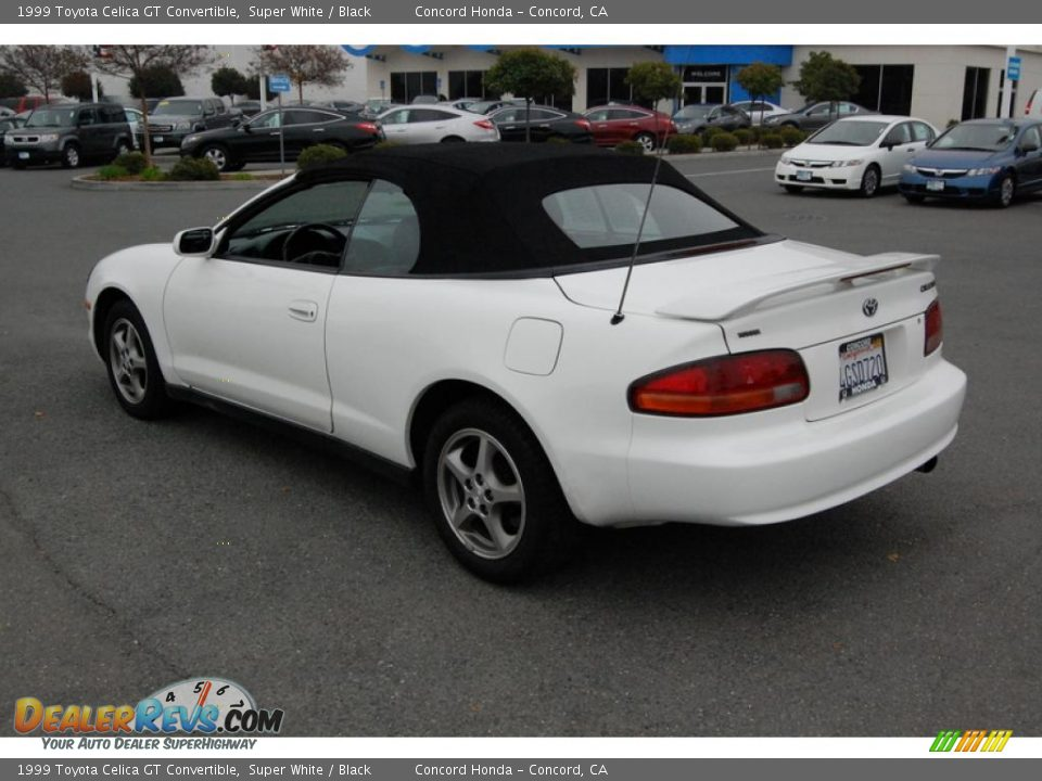 1999 toyota celica gt convertible super white black. Black Bedroom Furniture Sets. Home Design Ideas