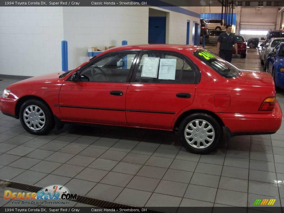 1994 Toyota Corolla Dx Super Red Gray Photo 4
