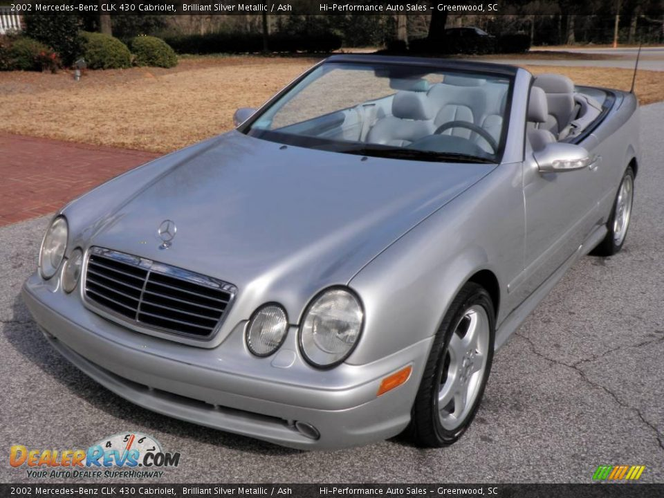 2002 mercedes benz clk 430 cabriolet brilliant silver for Mercedes benz 430 clk