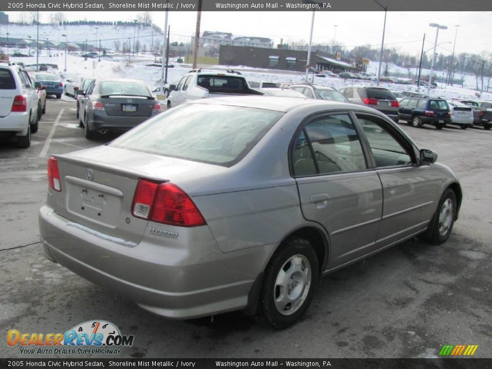2005 honda civic hybrid sedan shoreline mist metallic ivory photo 7