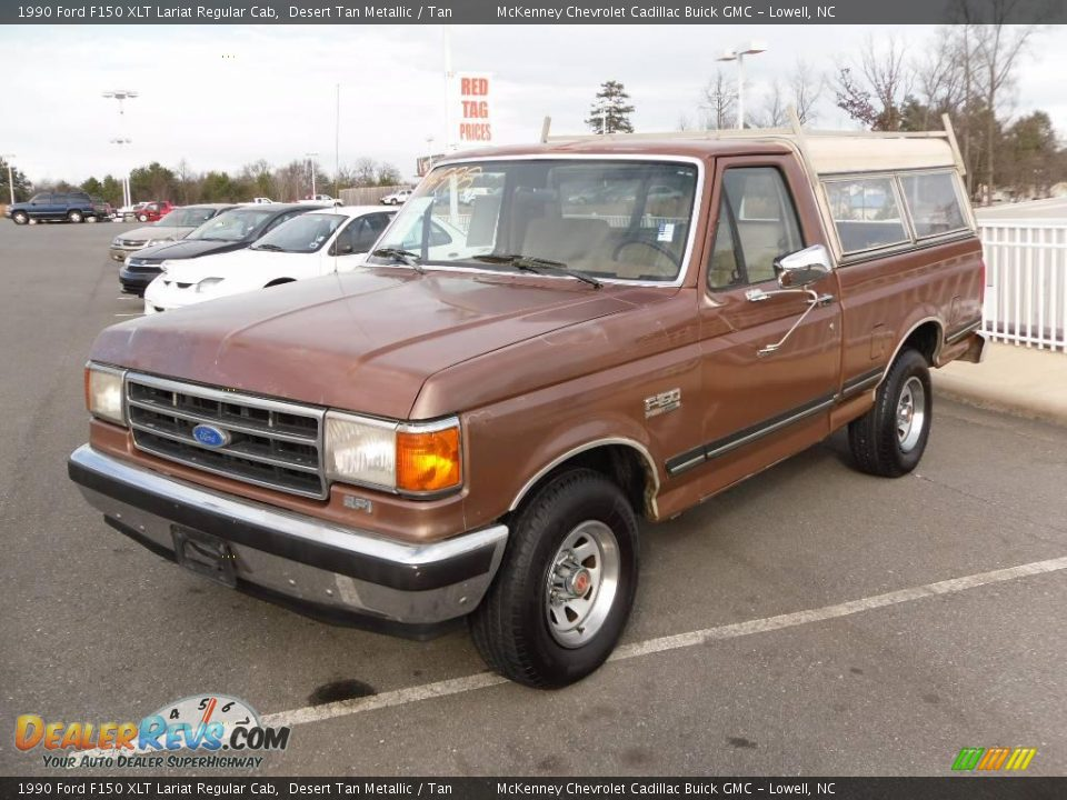 1990 ford f150 xlt lariat regular cab desert tan metallic tan photo 1. Black Bedroom Furniture Sets. Home Design Ideas