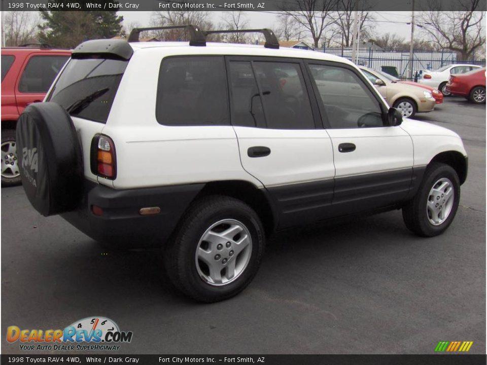 1998 Toyota Rav4 4wd White Dark Gray Photo 3