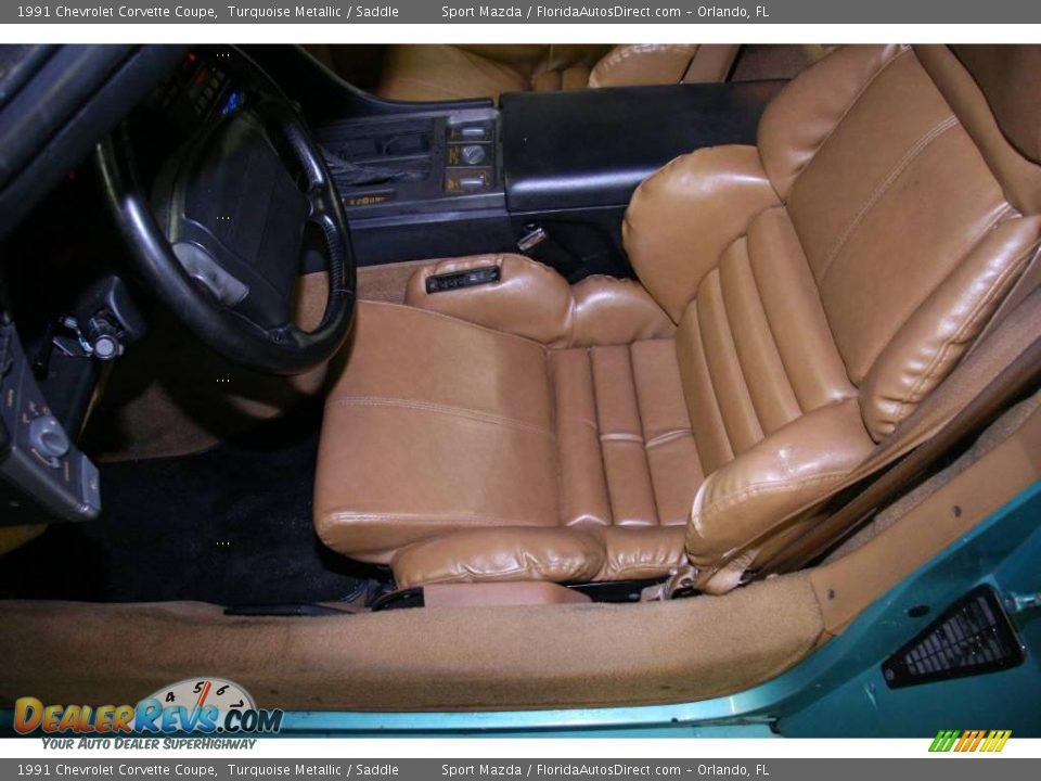 1991 Chevrolet Corvette Coupe Turquoise Metallic / Saddle