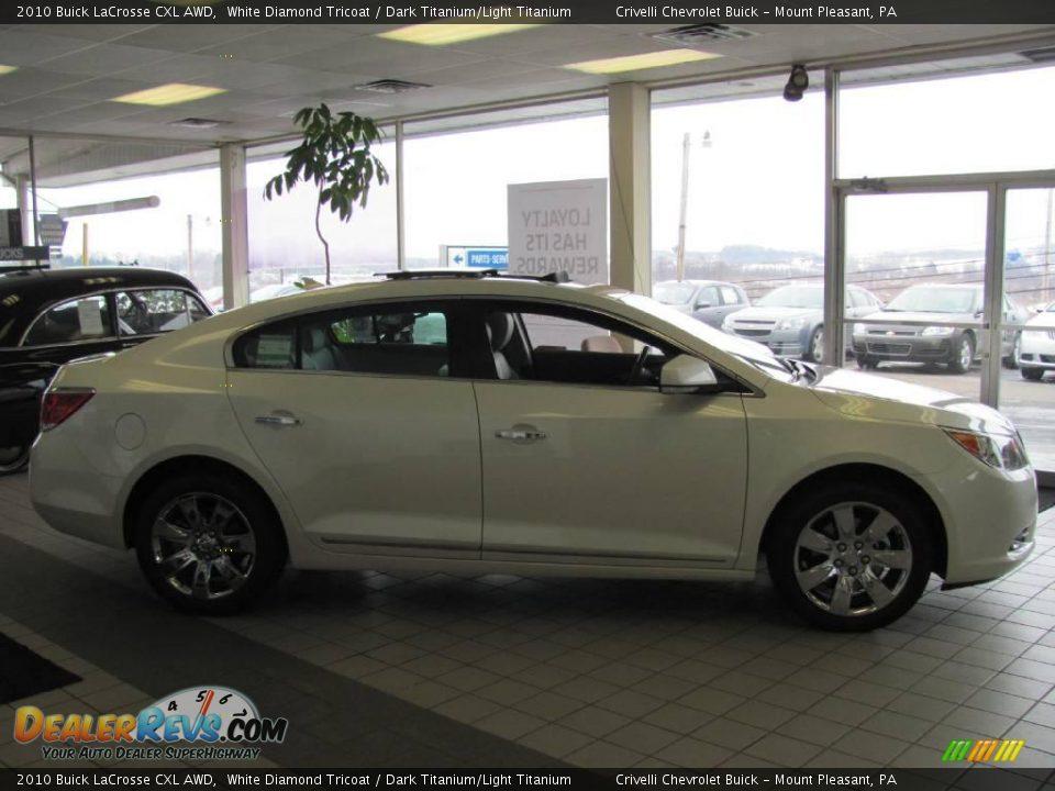 2010 Buick LaCrosse CXL AWD White Diamond Tricoat / Dark Titanium ...