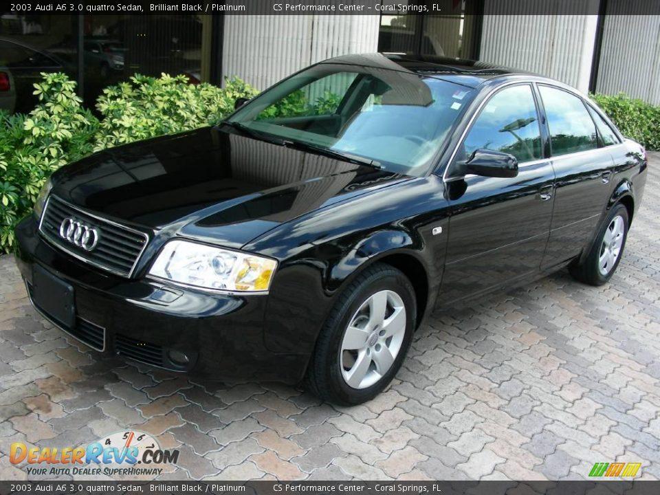 2003 audi a6 3 0 quattro sedan brilliant black platinum photo 1. Black Bedroom Furniture Sets. Home Design Ideas