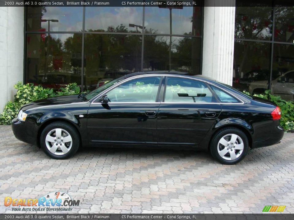 2003 audi a6 3 0 quattro sedan brilliant black platinum photo 2. Black Bedroom Furniture Sets. Home Design Ideas