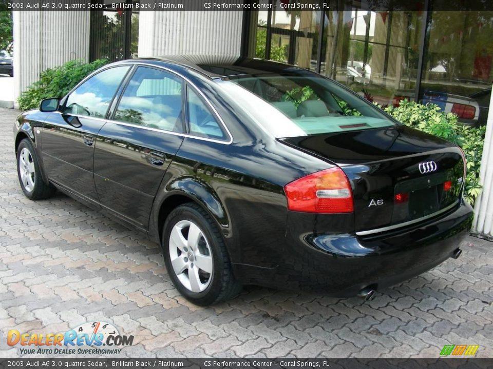 2003 audi a6 3 0 quattro sedan brilliant black platinum photo 5. Black Bedroom Furniture Sets. Home Design Ideas