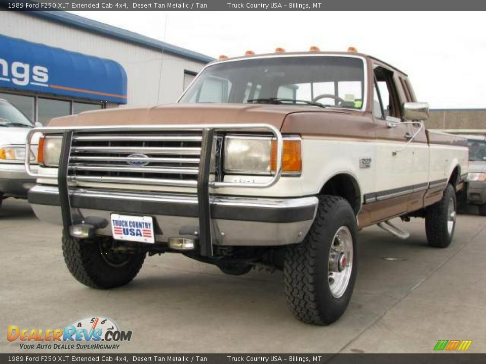 1989 Ford F250 Xlt Extended Cab 4x4 Desert Tan Metallic Tan Photo 2 Dealerrevs Com
