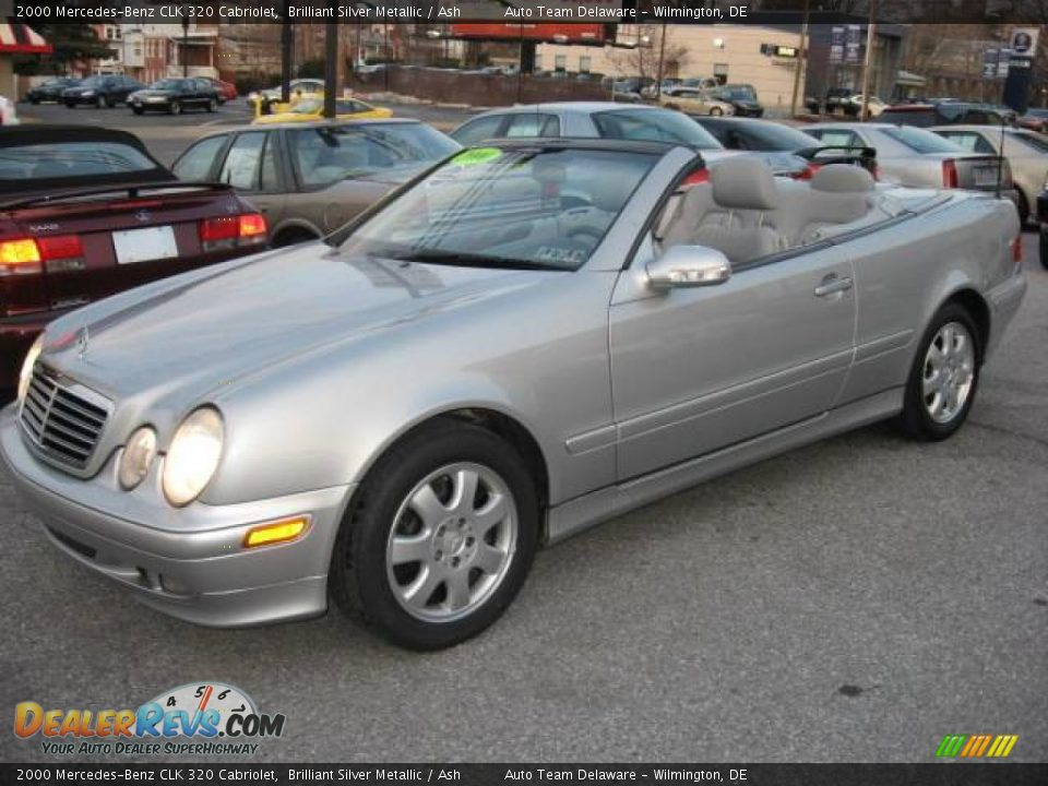 2000 mercedes benz clk 320 cabriolet brilliant silver metallic ash photo 12. Black Bedroom Furniture Sets. Home Design Ideas
