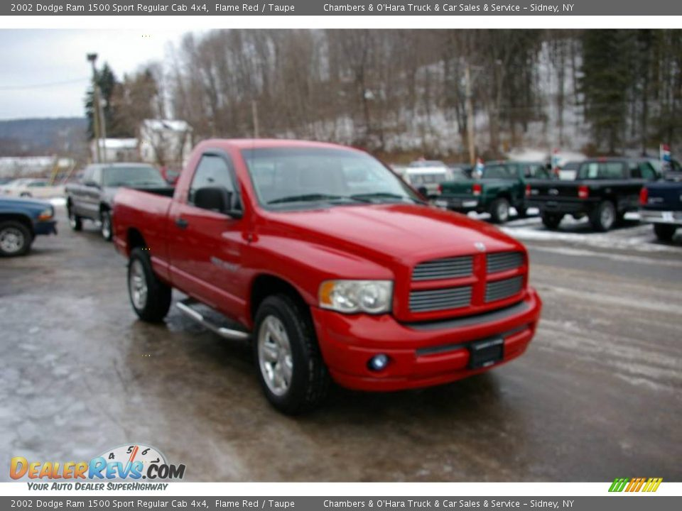 2002 dodge ram 1500 sport regular cab 4x4 flame red taupe photo 16. Black Bedroom Furniture Sets. Home Design Ideas
