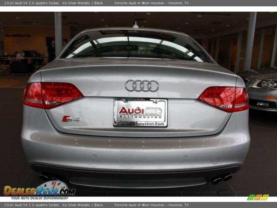 2010 Audi S4 3 0 Quattro Sedan Ice Silver Metallic Black