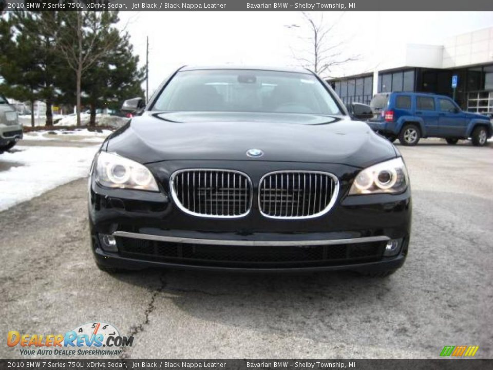 2010 Bmw 7 Series 750li Xdrive Sedan Jet Black Black