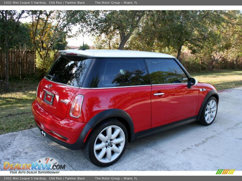 2002 mini cooper s hardtop chili red panther black photo. Black Bedroom Furniture Sets. Home Design Ideas