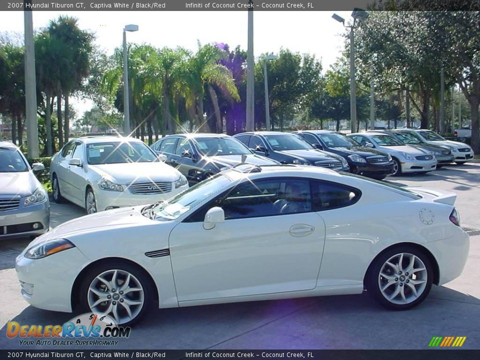2007 hyundai tiburon gt captiva white black red photo 6. Black Bedroom Furniture Sets. Home Design Ideas