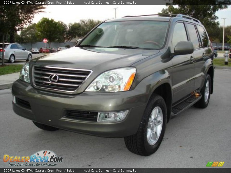 2007 lexus gx 470 cypress green pearl beige photo 1. Black Bedroom Furniture Sets. Home Design Ideas