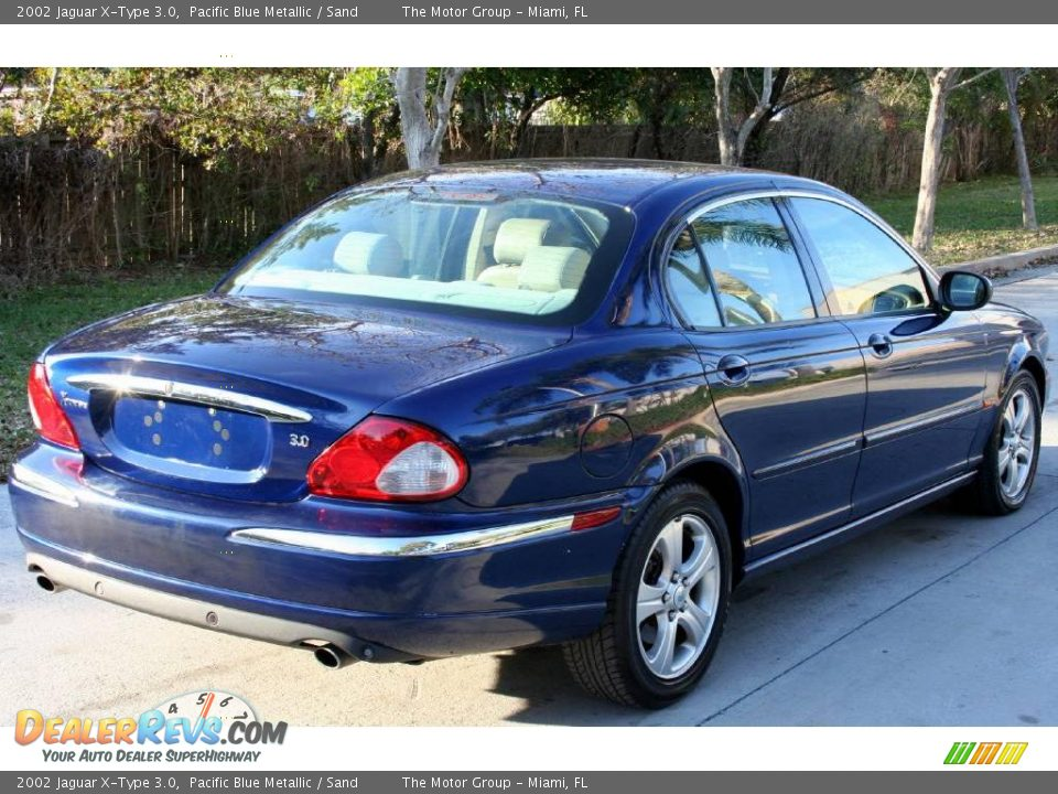 2002 jaguar x type 3 0 pacific blue metallic sand photo 7. Black Bedroom Furniture Sets. Home Design Ideas