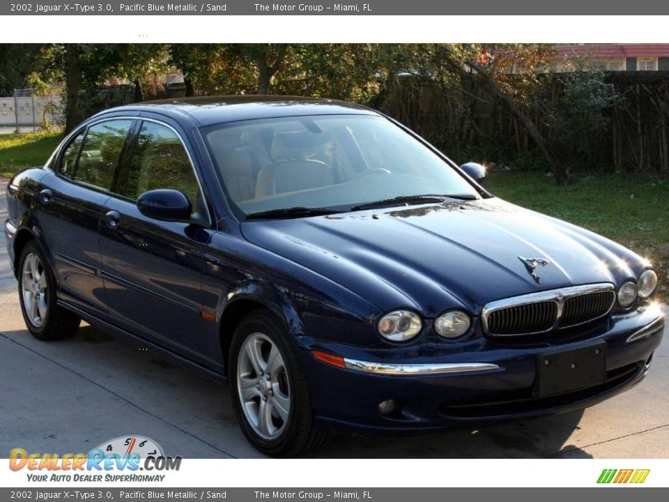 2002 jaguar x type 3 0 pacific blue metallic sand photo 10. Black Bedroom Furniture Sets. Home Design Ideas