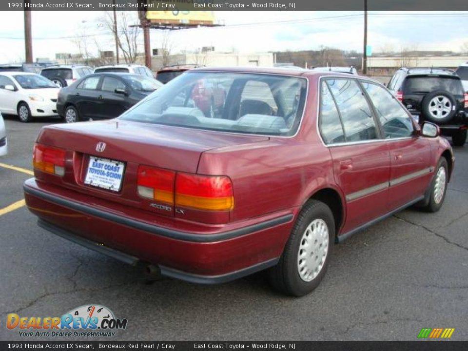 1993 Honda Accord Lx Sedan Bordeaux Red Pearl Gray Photo