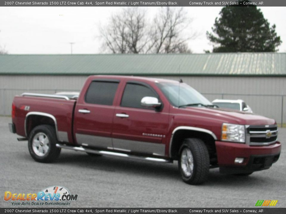 2007 chevrolet silverado 1500 ltz crew cab 4x4 sport red. Black Bedroom Furniture Sets. Home Design Ideas