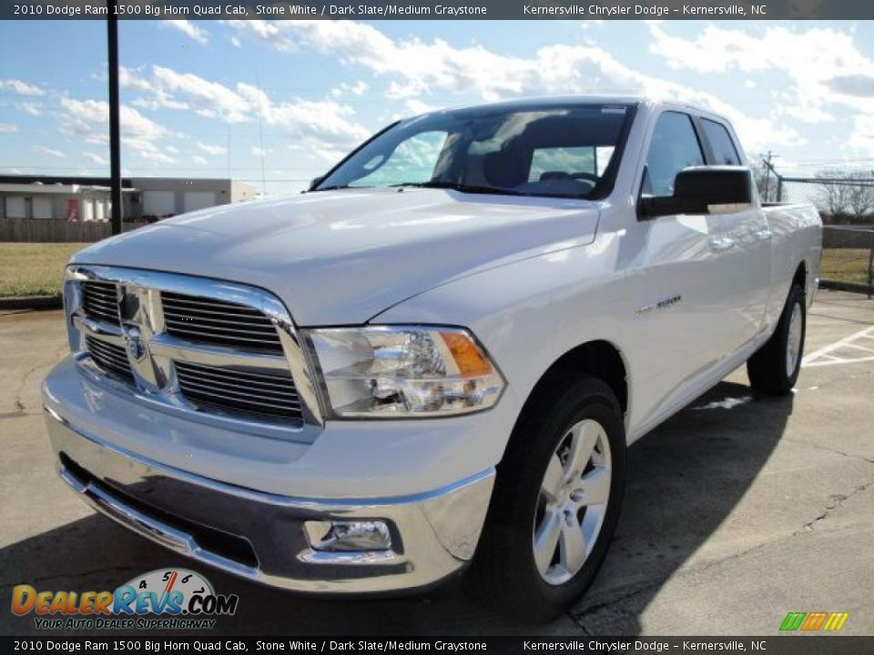 2010 dodge ram 1500 big horn quad cab stone white dark slate medium graystone photo 1. Black Bedroom Furniture Sets. Home Design Ideas