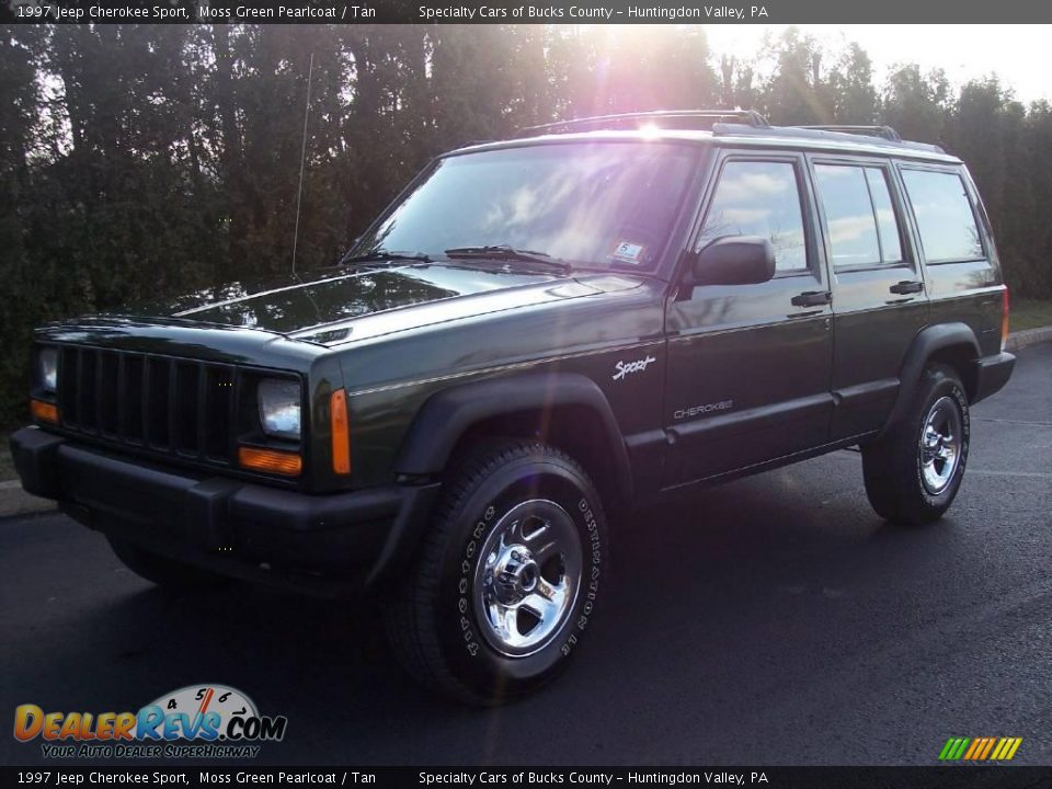 1997 jeep cherokee sport moss green pearlcoat tan photo 2. Black Bedroom Furniture Sets. Home Design Ideas