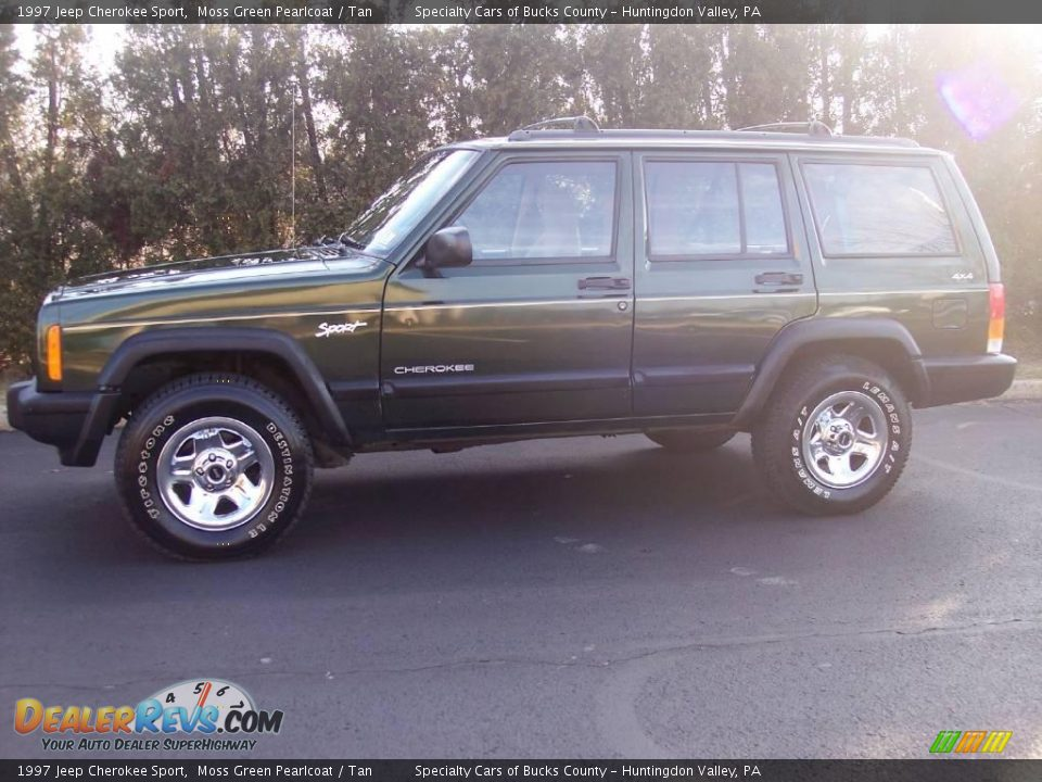 1997 jeep cherokee sport moss green pearlcoat tan photo 4. Black Bedroom Furniture Sets. Home Design Ideas