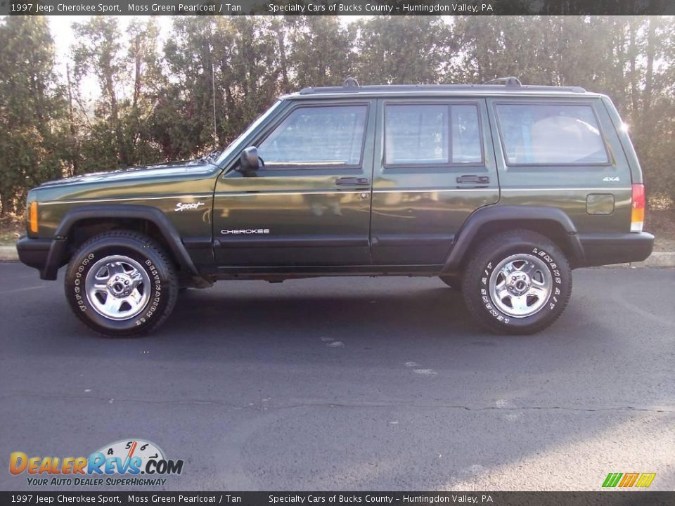 1997 jeep cherokee sport moss green pearlcoat tan photo 5. Black Bedroom Furniture Sets. Home Design Ideas