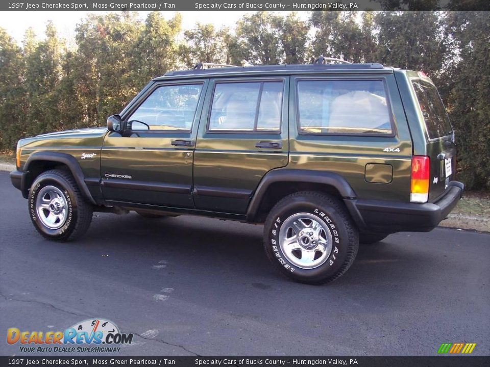 1997 jeep cherokee sport moss green pearlcoat tan photo 6. Black Bedroom Furniture Sets. Home Design Ideas