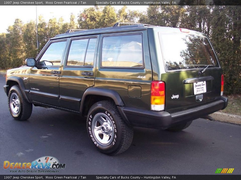 1997 jeep cherokee sport moss green pearlcoat tan photo 7. Black Bedroom Furniture Sets. Home Design Ideas
