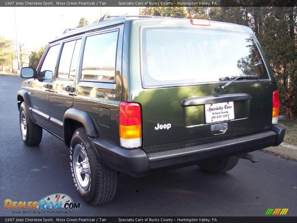 1997 jeep cherokee sport moss green pearlcoat tan photo 8. Black Bedroom Furniture Sets. Home Design Ideas