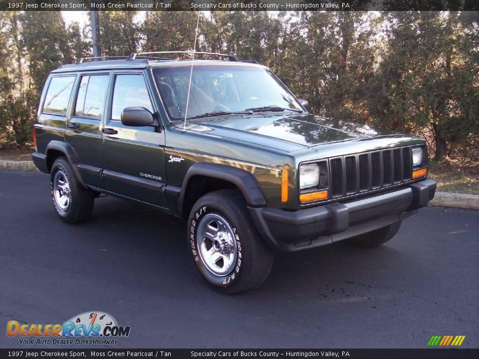 1997 jeep cherokee sport moss green pearlcoat tan photo 14. Black Bedroom Furniture Sets. Home Design Ideas