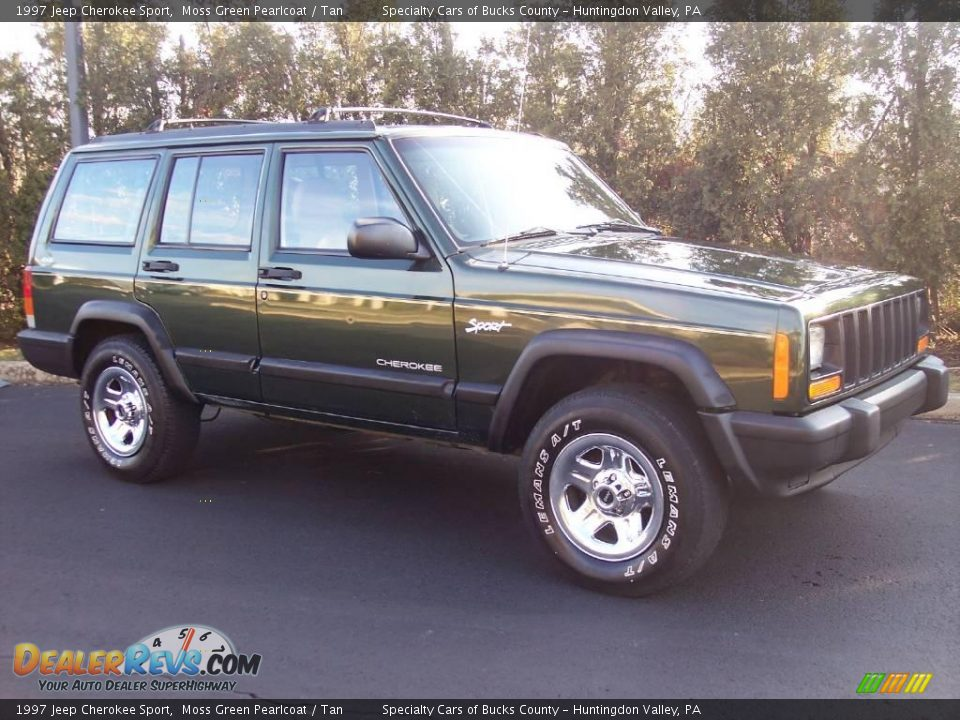 1997 jeep cherokee sport moss green pearlcoat tan photo 15. Black Bedroom Furniture Sets. Home Design Ideas