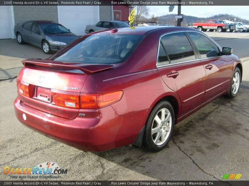 2005 honda accord ex l v6 sedan redondo red pearl gray photo 5. Black Bedroom Furniture Sets. Home Design Ideas