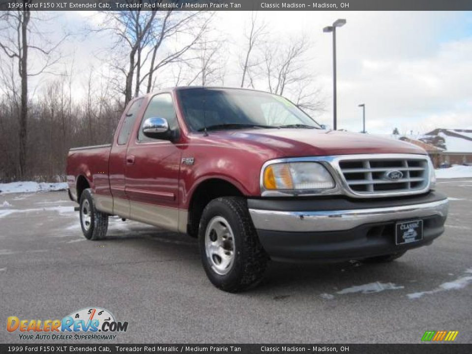 1999 ford f150 xlt extended cab toreador red metallic medium prairie tan photo 3. Black Bedroom Furniture Sets. Home Design Ideas