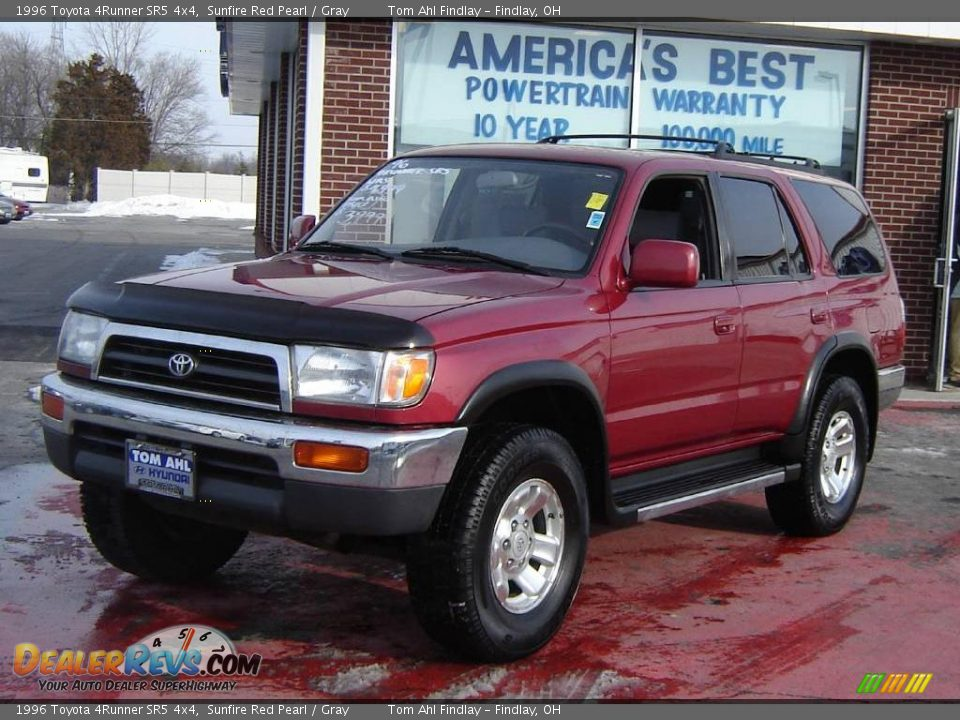 1996 Toyota 4runner Sr5 4x4 Sunfire Red Pearl Gray Photo