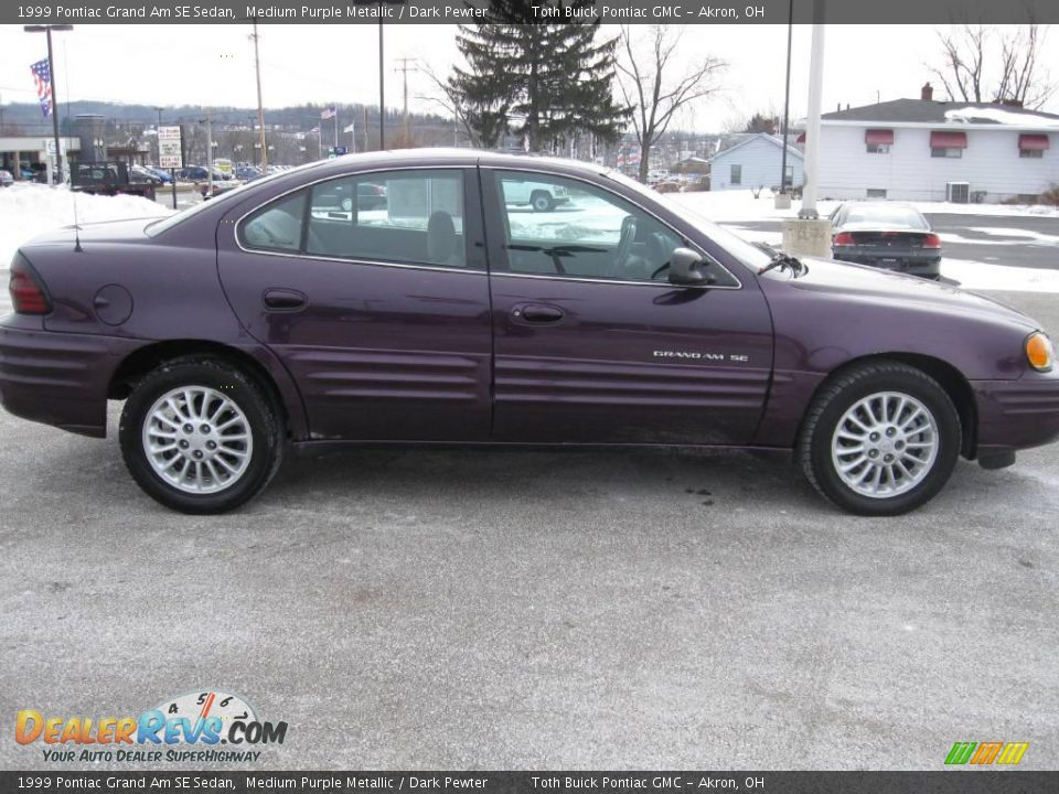 1999 pontiac grand am se sedan medium purple metallic dark pewter photo 2. Black Bedroom Furniture Sets. Home Design Ideas