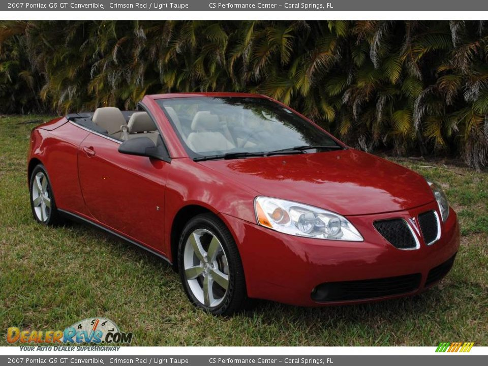 2007 pontiac g6 gt convertible crimson red light taupe photo 3. Black Bedroom Furniture Sets. Home Design Ideas