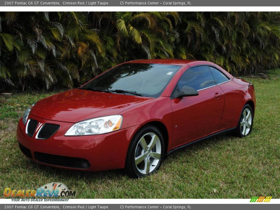 2007 pontiac g6 gt convertible crimson red light taupe photo 9. Black Bedroom Furniture Sets. Home Design Ideas