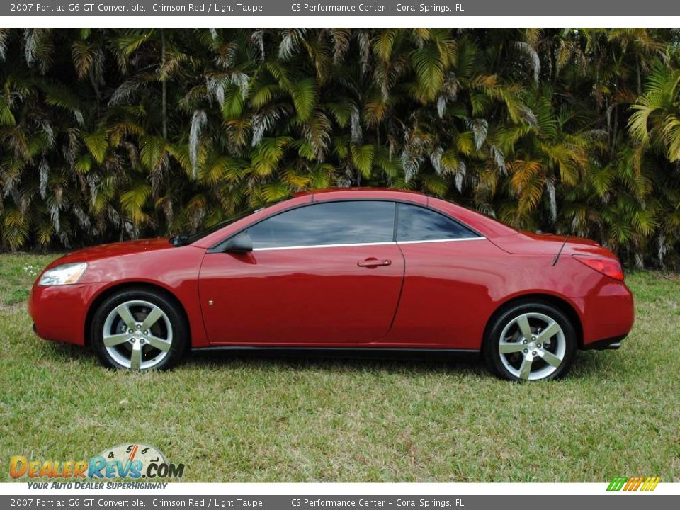 2007 pontiac g6 gt convertible crimson red light taupe photo 10. Black Bedroom Furniture Sets. Home Design Ideas