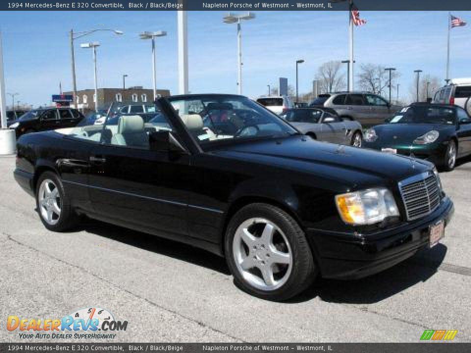 1994 mercedes benz e 320 convertible black black beige for Black convertible mercedes benz