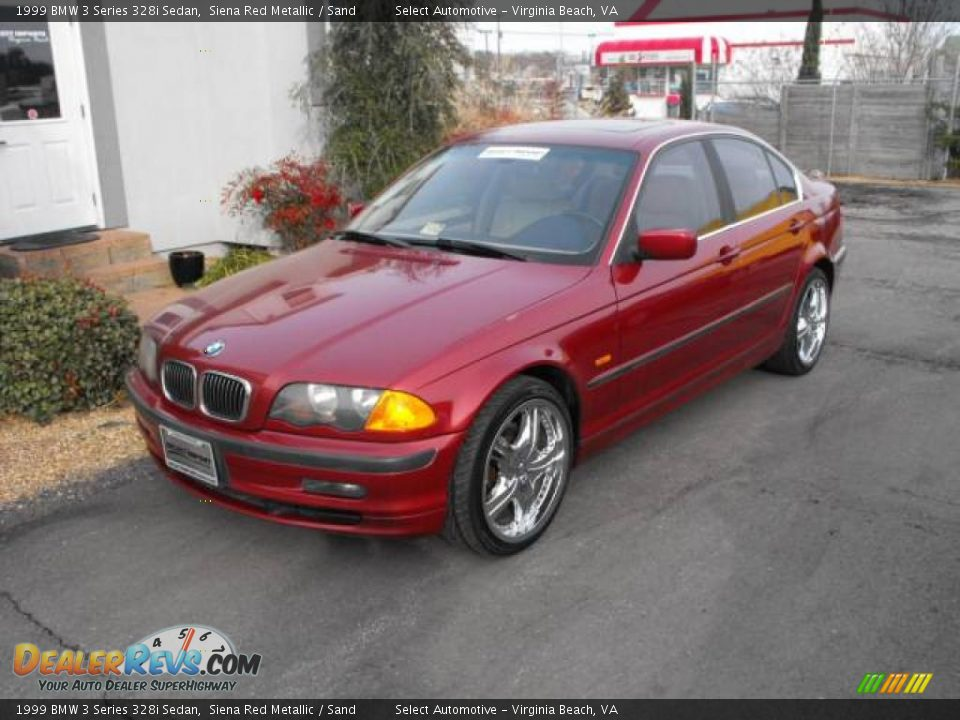 1999 bmw 3 series 328i sedan siena red metallic sand. Black Bedroom Furniture Sets. Home Design Ideas