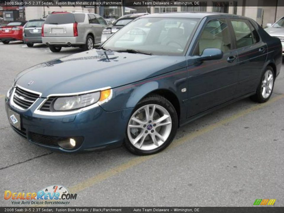 2008 saab 9 5 2 3t sedan fusion blue metallic black. Black Bedroom Furniture Sets. Home Design Ideas