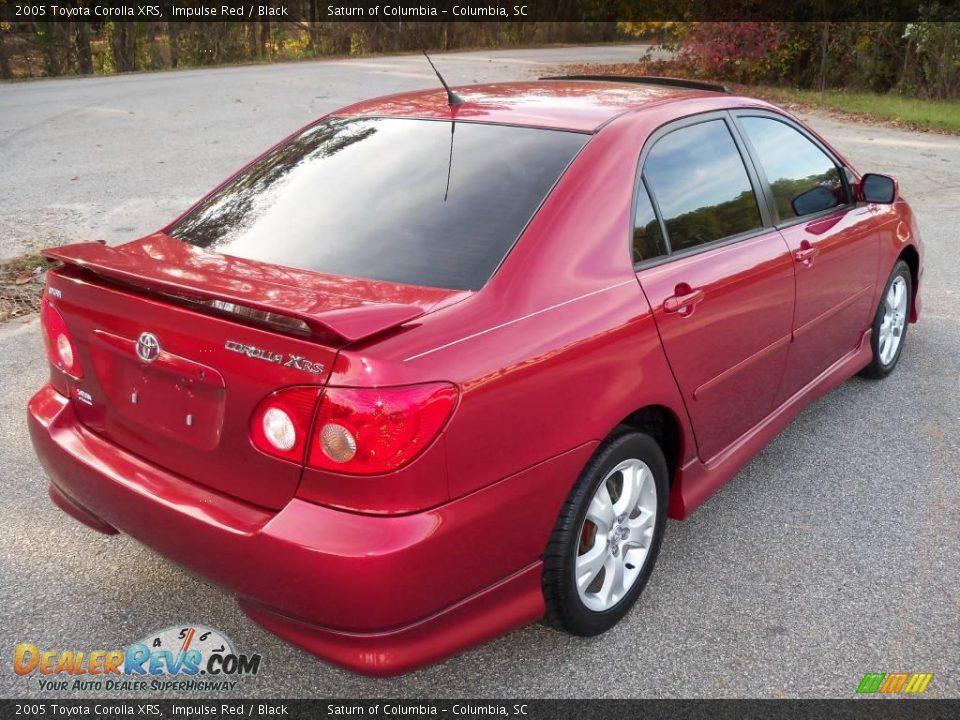 2005 Toyota Corolla Xrs Impulse Red Black Photo 10